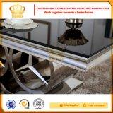 Mobiliario moderno de cristal Venta caliente juego de mesa de comedor SJ916