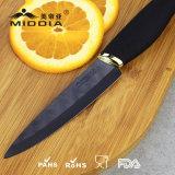 Couteau de découpage en céramique noir de Matt de couteau neuf de chef en 4 pouces