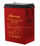 Le gel de température élevée de la batterie 6V420ah d'UPS, 50% Dod obtiennent 1500cycles