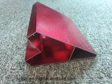 6063 a balayé le profil en aluminium oxydé rouge d'extrusion