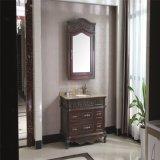 Mobilia sanitaria antica della stanza da bagno degli articoli di legno di quercia di stile