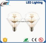 Bulbo decorativo creativo blanco caliente del diseño LED 3W de la UL del CE de la bombilla del LED edison