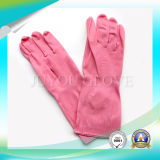 Impermeable guante de látex antiácido para lavado de trabajo con ISO9001 aprobado