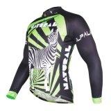 Зеленый Zebra полосы спортивных вершин мужчин быстро сухого цикла Джерси