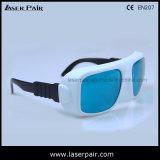 Alta qualidade de vidros de segurança do laser dos óculos de proteção protetores do laser para o rubi (RHP 600-700nm) com frame 36