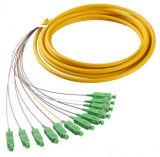Câble de coaxage à fibres optiques 12 Core Sm avec connecteur FC Sc LC St