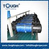Fibra 100% resistente de Uhwmpe da corda da corda sintética cinzenta do guincho da cor 11mmx30m4X4