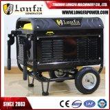 Beweglicher 6kw 7kVA Energien-Treibstoff-leiser Benzin-Generator mit Rädern