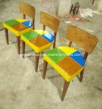 Mobília barata do restaurante do metal que janta a cadeira com parte traseira de madeira (JY-R42)