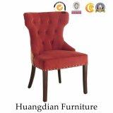 Terciopelo copetudo modificado para requisitos particulares del botón de los muebles del restaurante que cena la silla (HD463)