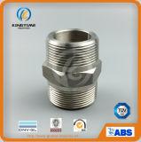 Edelstahl verlegter Hex Nippel-Stahl schmiedete Nippel (KT0556)