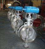 Válvula de borboleta pneumática do aço inoxidável