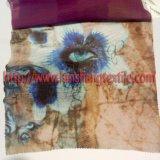 Roupas de seda Slub Tecido de impressão para Cortina vestido completo