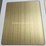 Покрашенные золотом листы нержавеющей стали для Анти--Фингерпринта Matt украшения проекта