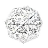 Прозрачный зонтик цвета радуги, Environment-Friendly материал