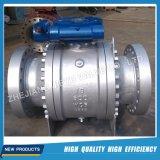 O eixo montou a válvula de esfera 600lb 6inch com o sem-fim operado