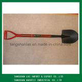 Schaufel-Stahlspaten-Schaufel mit rote Farben-hölzernem Griff
