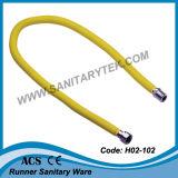 Mangueira de gás flexível ondulada S / S com PVC amarelo (H02-103)