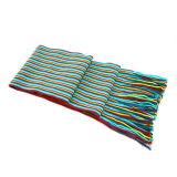 La moda la bufanda a rayas verticales con borlas (JRI065)
