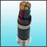 IEC 60502-1 600/1000V Cu/ PVC PVC / Cable de alimentación eléctrica de 4 núcleos de 300mm2 el cable de cobre