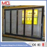 Fábrica de aluminio resistente de la puerta de plegamiento del BI del marco