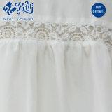 Las tiras de encaje blanco Long-Sleeve moda señoras blusa holgada
