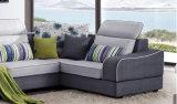 Sofá de madera de la tela de los muebles caseros modernos más nuevos del diseño
