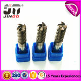 Jinoo покрыло твердый диаметр 2.5mm изготовлений HRC45 торцевой фрезы карбида