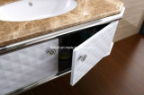 Module de vanité de salle de bains de meubles d'acier inoxydable de constructeur de Foshan (T-077)