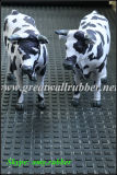Estera de vaca, esmalte de borracha quadrado pequeno, folha antiestática, tapete animal