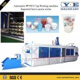 Máquina de alta velocidad automática de Thermoforming de la tapa de los PP del plástico