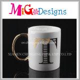 Design requintado artesanato de cerâmica para presente de aniversário chávenas