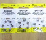 A10 1.4V 90mAhの亜鉛空気補聴器のButtonnのセル一次乾電池