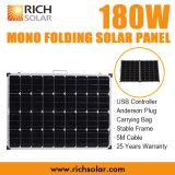 energia solare di piegatura di 180W 12V del kit monocristallino del comitato solare