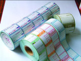 Étiquette de rouleaux de papier thermique