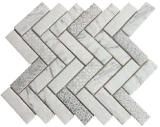 Mosaico de cristal Herringbone de la carrocería completa de la más nueva tecnología