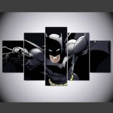 5 PCS Segeltuch-Wand-Kunst-Karikatur-Batman-Abbildung-Druck-Farbanstrich auf Segeltuch für Hauptdekor-Wohnzimmer-Segeltuch-Druck-Farbanstrich Mc-158