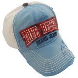 Gorra de béisbol lavada los 6 paneles con la insignia Bb100