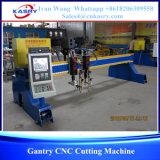 tipo máquina do pórtico de 4*10m de estaca da flama do plasma do CNC para a folha