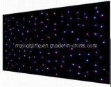 van de LEIDENE Tricolor van 4m*6m Doek RGB Ster van Le Star Curtain/LED/Zwarte Doek