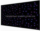 4m * 6m Tricolor LED RGB Le Star Curtain / LED paño de la estrella / Negro Paño