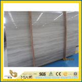 Alto marmo di legno bianco di lucidatura della vena per le mattonelle di pavimento
