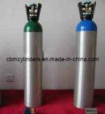 弁及びハンドルが付いている高圧継ぎ目が無いアルミニウム酸素ボンベ10L