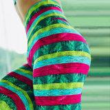 Os fabricantes a impressão digital de Vendas Diretas Nádega Sexy Calças de ioga calças desportivas Slips Mulheres Perneiras