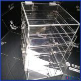 2016熱い販売の水晶ノブが付いているアクリルの構成の収納箱