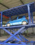 Plataforma de levantamento do carro dobro da plataforma para o estacionamento da garagem