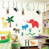 Papel pintado de gran tamaño de los murales de los animales de la selva de la impresión a todo color para el sitio de los cabritos