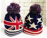 子供の冬の暖かいウールの帽子の男の子の女の子のウールの帽子の赤ん坊の冬の球の帽子