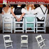 يطوي كرسي تثبيت بيضاء خارجيّ بلاستيكيّة لأنّ عمليّة بيع [يك-ب66]