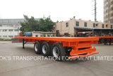 40 voeten Aanhangwagen van 3axle van Flatbed Semi (Enige Band)